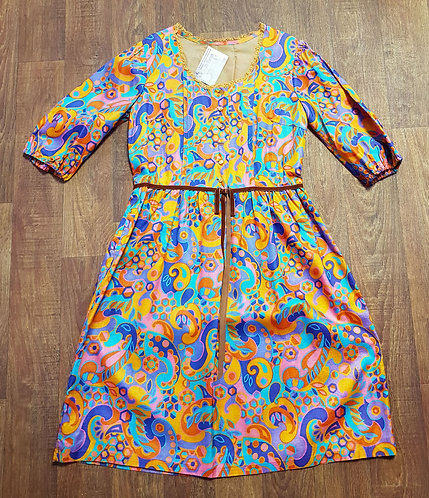 Vintage Dress | 1960s Psychedelic Dress | 60s Fashion | Vintage Clothing