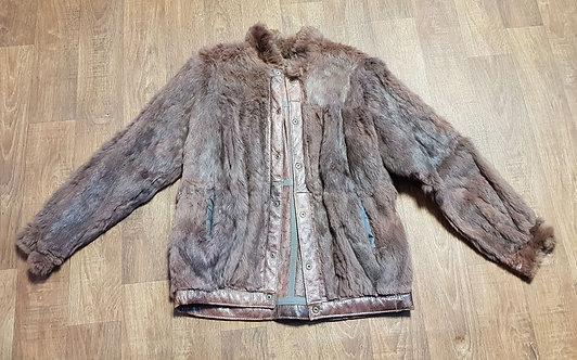 Vintage Jacket | Fur and Leather Jacket | 70s Style | Vintage Clothing