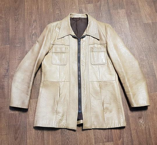 Mens Leather Jacket | 1970s Jacket | Vintage Clothing | Preloved UK