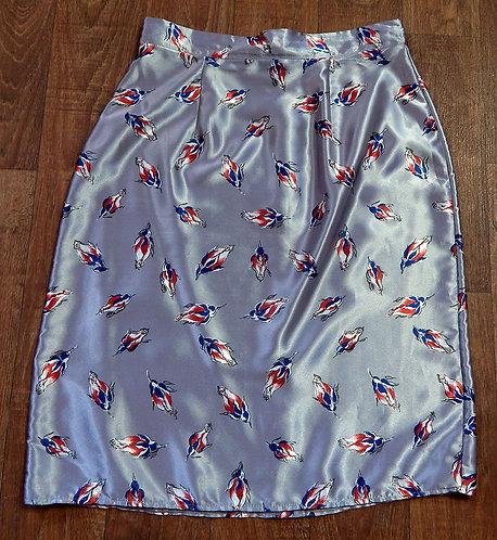 Vintage Skirt | Vintage Bird Print Skirt | Vintage Clothing | 70s Style