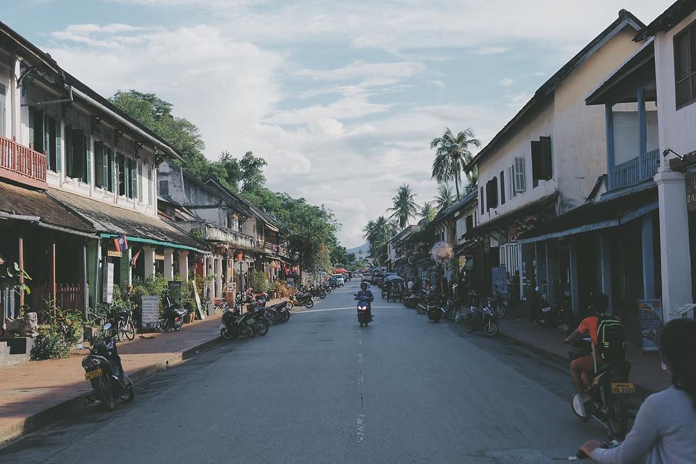 Jalan utama Luang Prabang