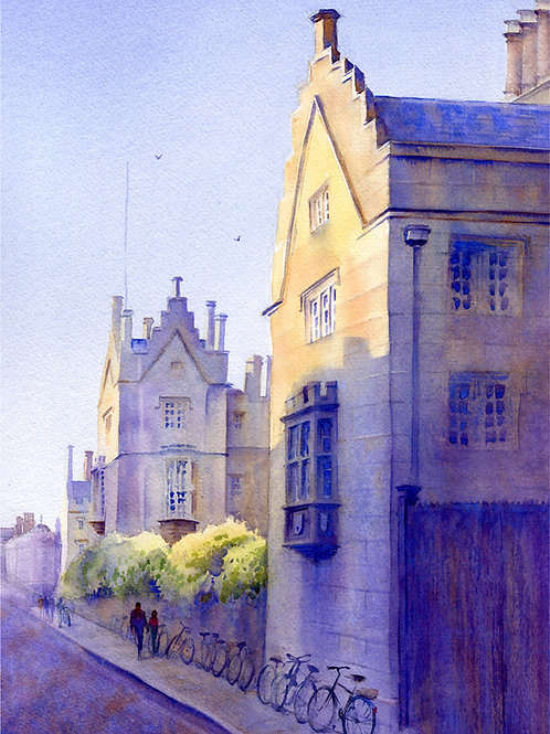 Signed, Limited Edition Print Summer at Sydney Sussex