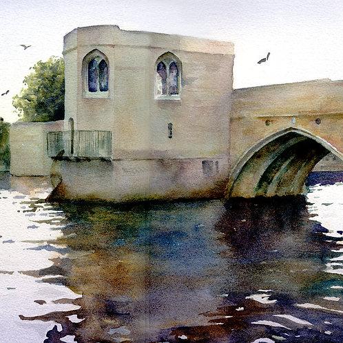 Signed, Limited Edition Print - St Ives Bridge chapel
