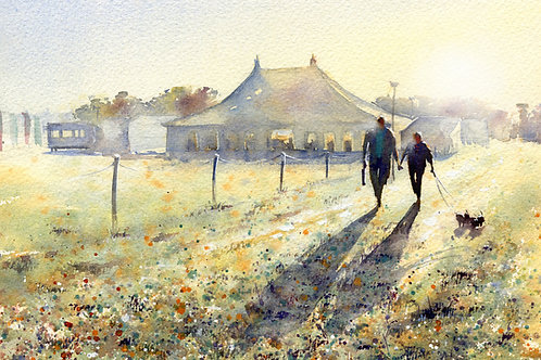 Signed, Limited Edition Print Early Arrivals at The Gransden Show