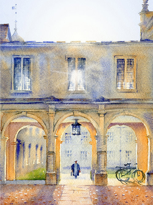 Signed, Limited Edition Print Peterhouse College, Cambridge