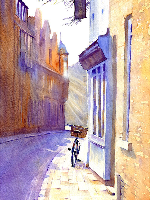 Signed, Limited Edition Print Walking to The Anchor, Cambridge