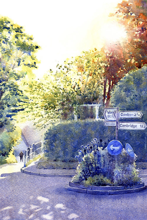 Signed, Limited Edition Print Homeward Bound on Crow Tree Street, Great Gransden