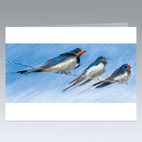 Birds on a Wire (Swallows) card