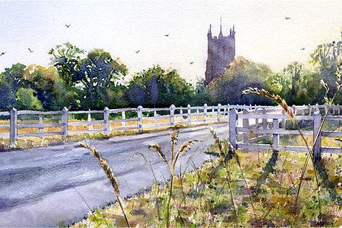 Signed, Limited Edition Print Great Staughton, Cambridgeshire
