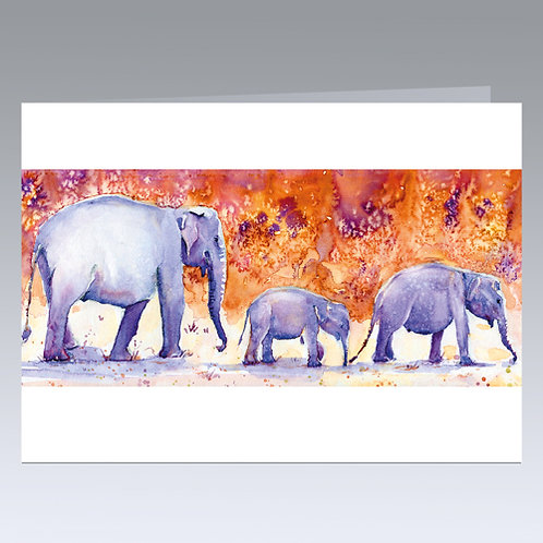 The Three of Us (Indian Elephants) card