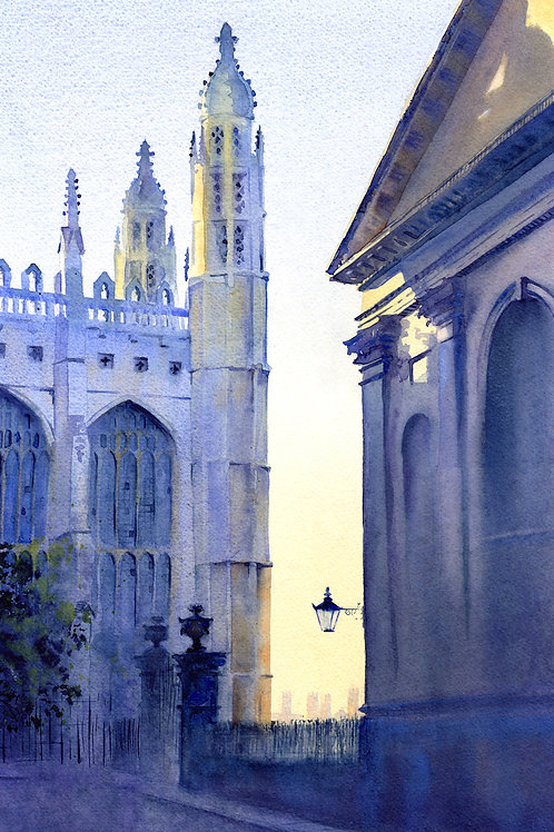 Signed, Limited Edition Print  The chapels of King's and Clare, Cambridge