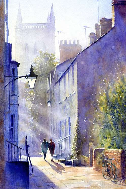 Signed, Limited Edition Print Portugal Place, Cambridge