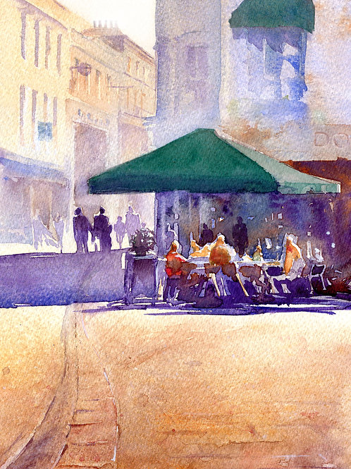 Signed, Limited Edition Print   Lunch at Don Pasquale, Cambridge