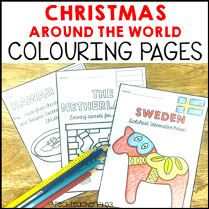 Christmas Colouring Pages I Holidays Around the World