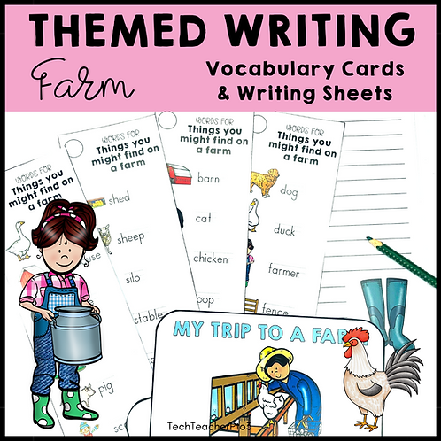Themed Writing Activity Farm