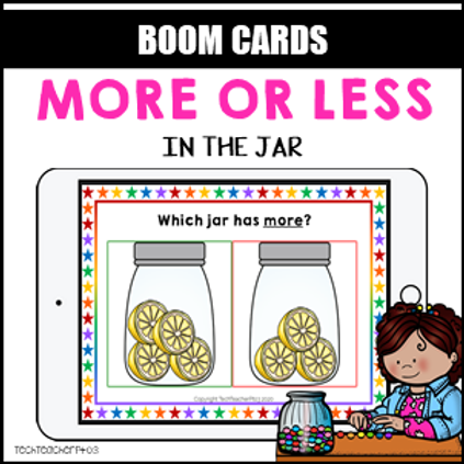 More or Less BOOM LEARNING CARDS Activity