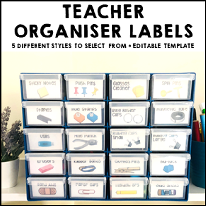 Teacher Toolbox Labels Organiser