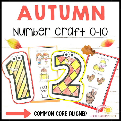 Autumn Number Craft Activities