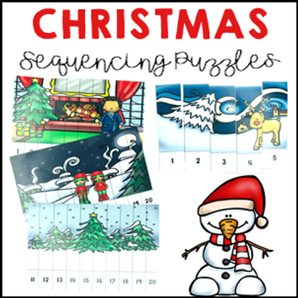 Christmas Activities Number Sequencing Puzzles 1 to 20