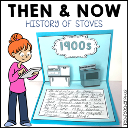 Long Ago and Today Then Now Social Studies Activities History of Stoves