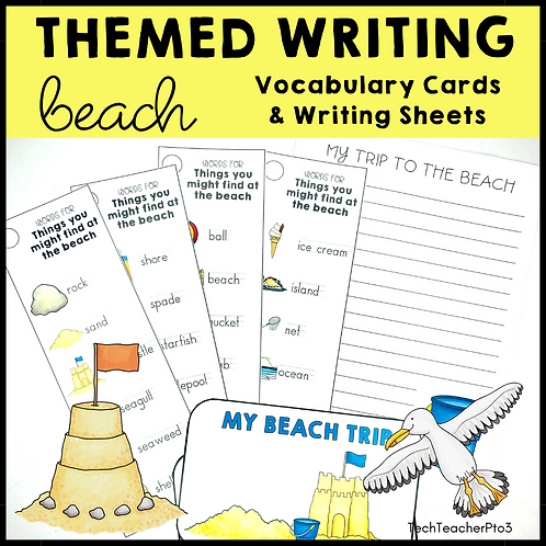 Themed Writing Activity Beach