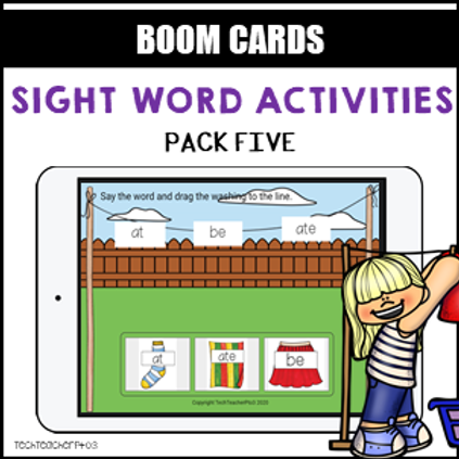 Sight Word Activities Pack Five BOOM LEARNING CARDS