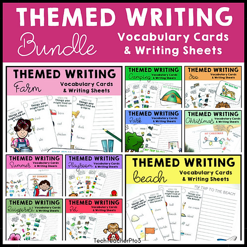 30% OFF Themed Writing Activities Bundle