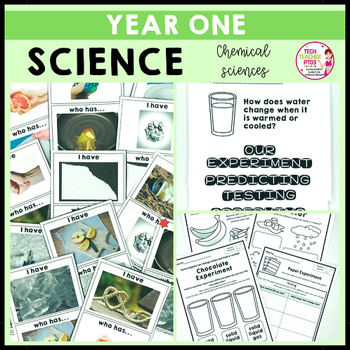 Science Year 1 Chemical Sciences