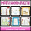 Thumbnail: Kindergarten Counting and Cardinality Math Worksheets Common Core