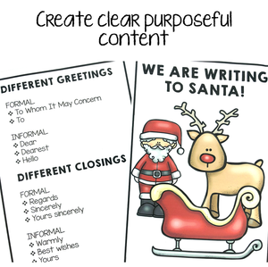 Picture of we are writing to santa sign