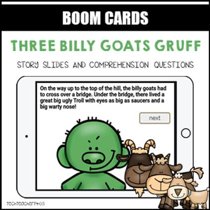 Three Billy Goats Gruff BOOM LEARNING CARDS