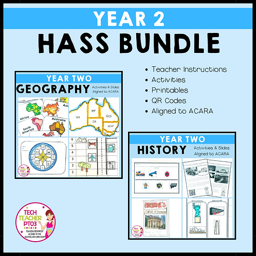 SAVE 20% Year 2 HASS Bundle: Geography & History