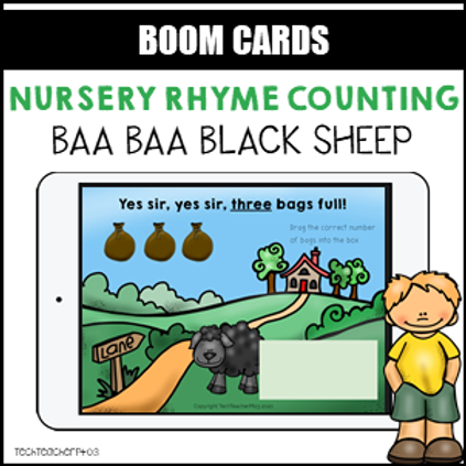 Nursery Rhyme Counting Baa Baa Black Sheep BOOM LEARNING CARDS Activity