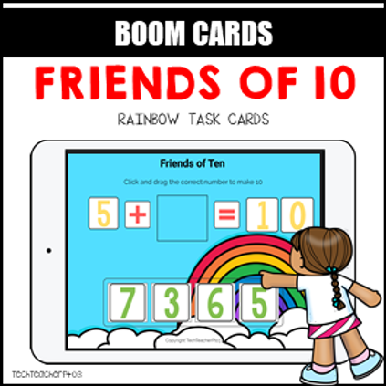 Friends of 10 addition BOOM LEARNING CARDS
