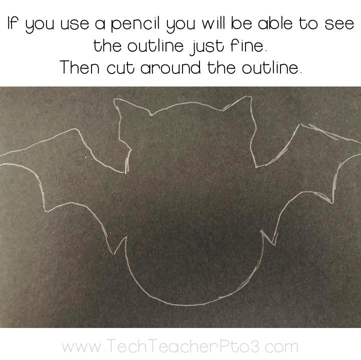 Download the Halloween craft paper bats garland
