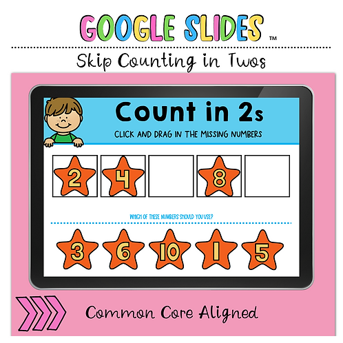 Skip Counting in 2s Google Slides™ Activity