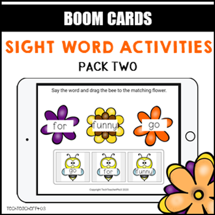 Sight Word Activities Pack Two BOOM LEARNING CARDS