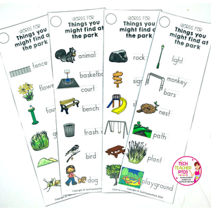 Vocabulary cards for teaching geography