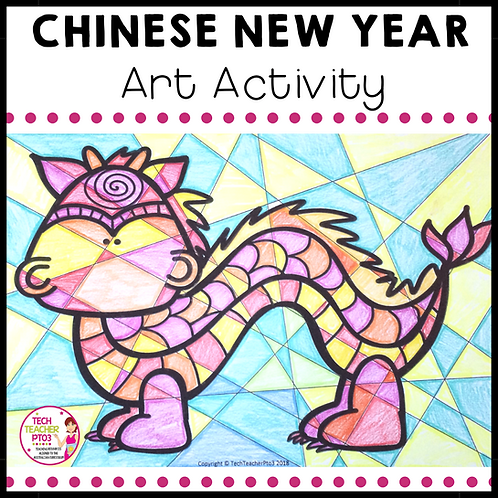 Chinese New Year Art Activity warm and cool colours