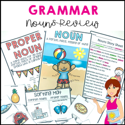 Parts of Speech: Nouns Common and Proper Grammar Revision