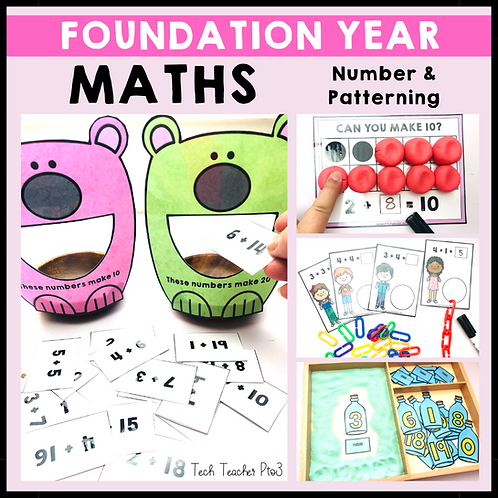 Foundation Year Maths Number and Patterning Activities ACARA