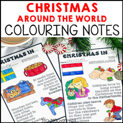Christmas Around the World Colouring Notes