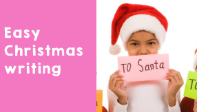 An easy Christmas writing activity to help your students increase their vocabulary.