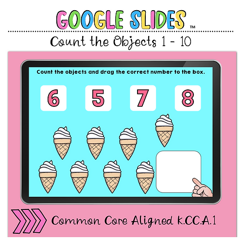 Count the Number 1 to 10 Google Slides™ Activity