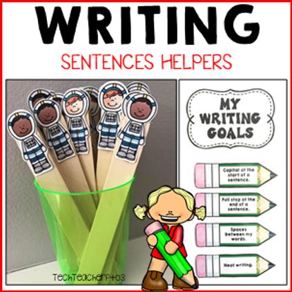 Sentence Writing Activities Goals Anchor Charts Tags