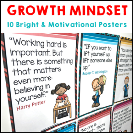 Growth Mindset Posters Motivational Quotes