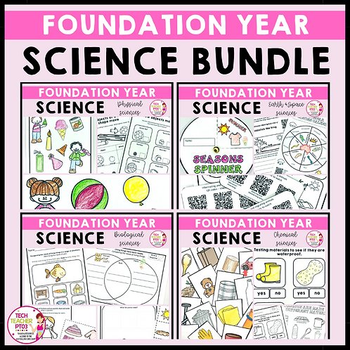 SAVE 20% Foundation Year Science Bundle
