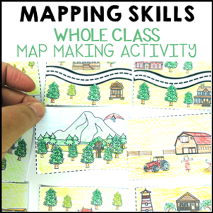 Map Making Geography Prepositional Whole Class Activity
