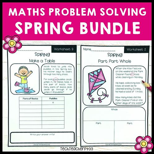20% OFF Spring Math Problem Solving Activities Bundle