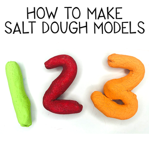 How to make salt dough models. Easy modelling activity for kids.